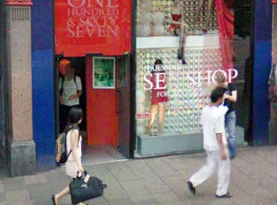 Google Street View bez klientów sex shopów