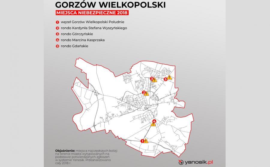 5 najbardziej niebezpiecznych miejsc w Gorzowie Wielkopolskim