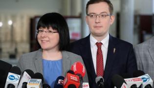 Kaja Godek i Robert Winnicki z Koalicji Propolskiej