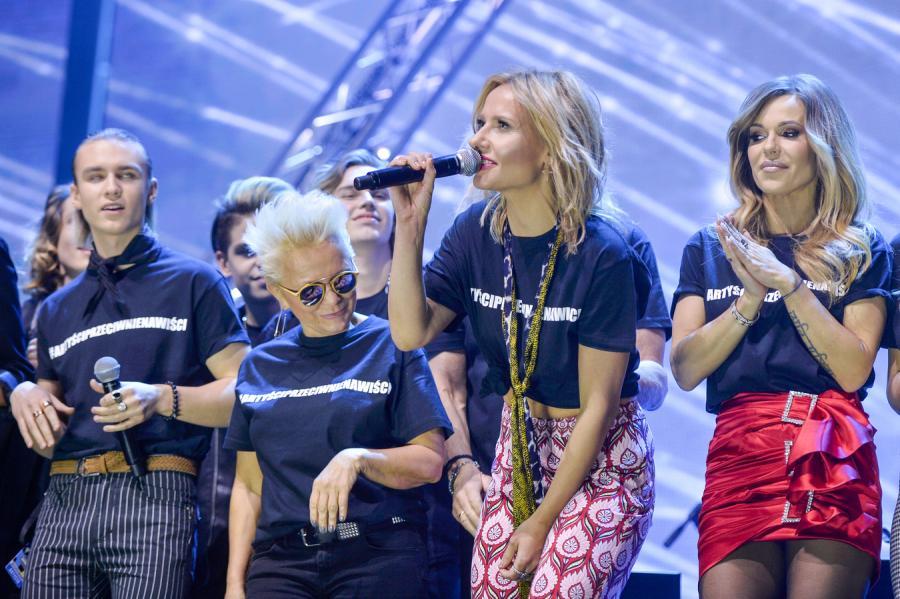 Doda, Patrycja Markowska, Małgorzata Ostrowska. Koncert przeciwko nienawiści. Łódź, Atlas Arena, 27 lutego 2019 rok