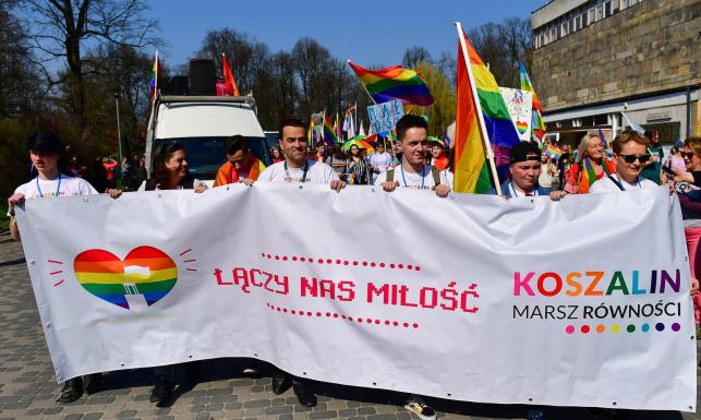 Marsz Równości w Koszalinie. \