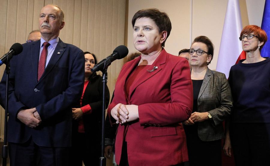Beata Szydło, Ryszard Proksa, Elżbieta Rafalska, Anna Zalewska