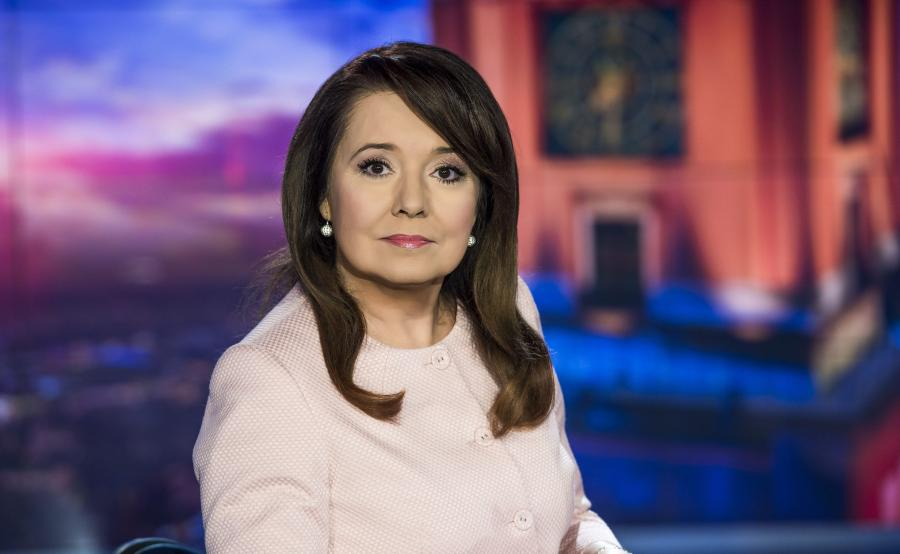 """Danuta Holecka prowadząca """"Wiadomości"""" TVP"""