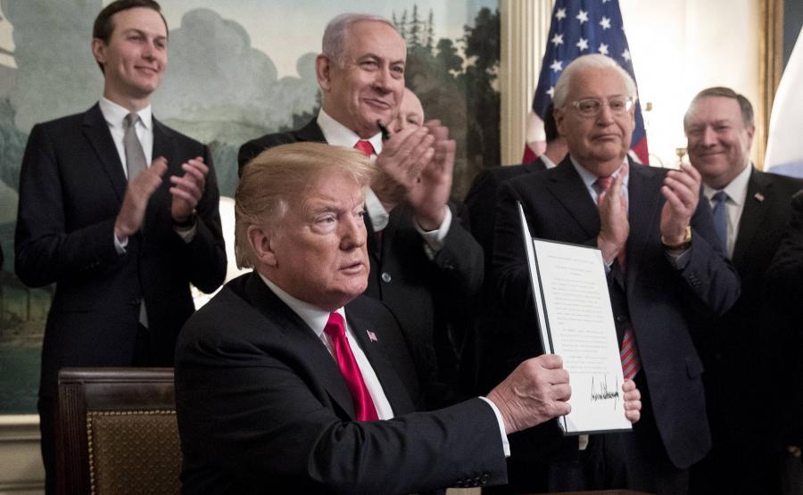Donald Trump oficjalnie uznaje Wzgórza Golan za terytorium Izraela