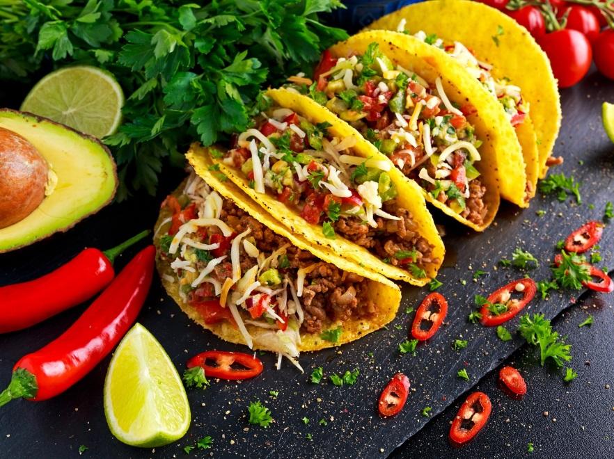 Taco z guacamole