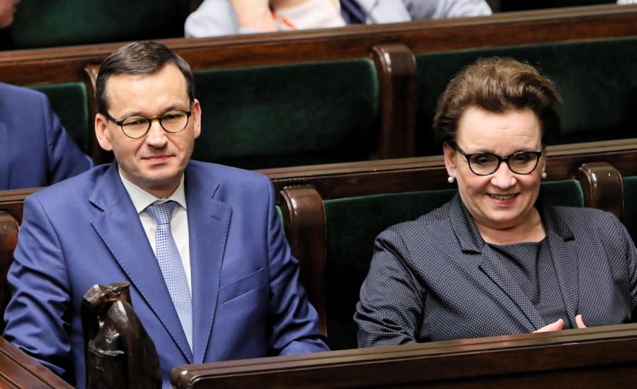 Premier Mateusz Morawiecki i minister Anna Zalewska