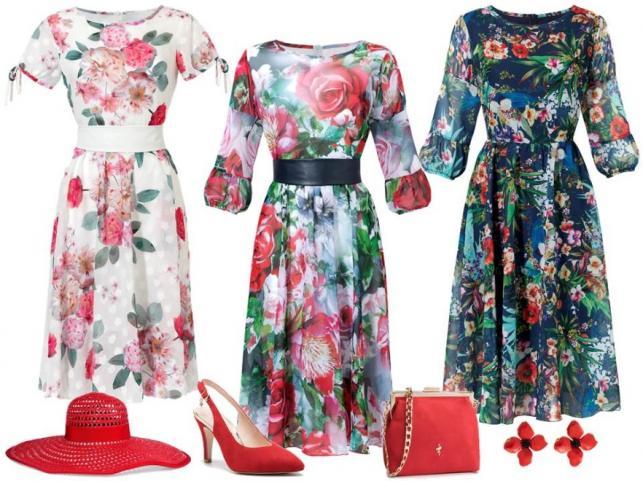 40b4b6c8271632 STYLIZACJE na komunię: kwieciste sukienki - Midori Feminine Fashion/midori. pl, buty