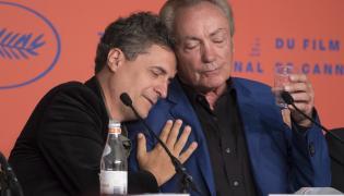 Kleber Mendonca Filho oraz aktor Udo Kier w Cannes