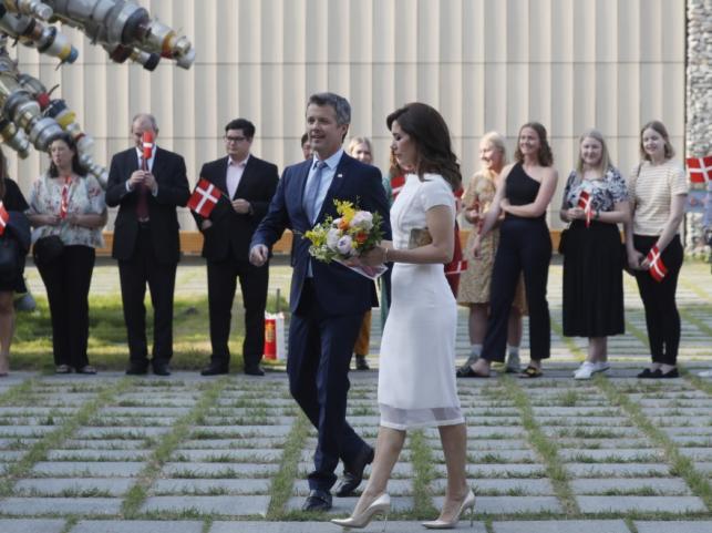 Książę koronny Danii Fryderyk z małżonką księżną Marią