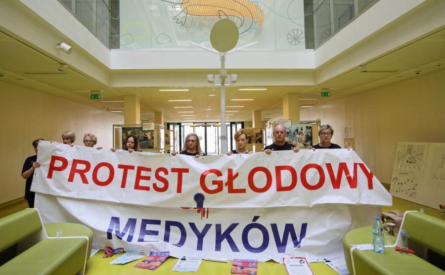 Protest głodowy medyków