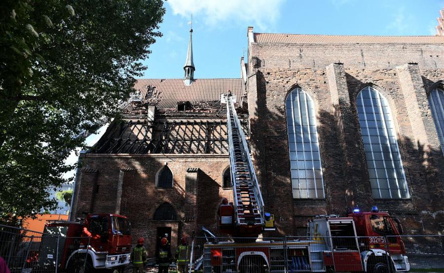 Pożar w Gdańśku
