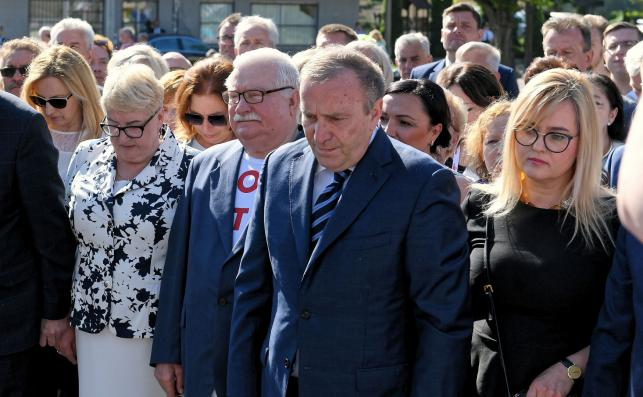 Lech Wałęsa, Grzegorz Schetyna, Henryka Krzywonos, Magdalena Adamowicz