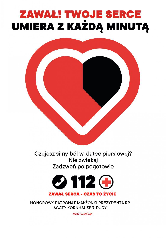 """Kampania  """"Zawał serca - czas to życie"""""""