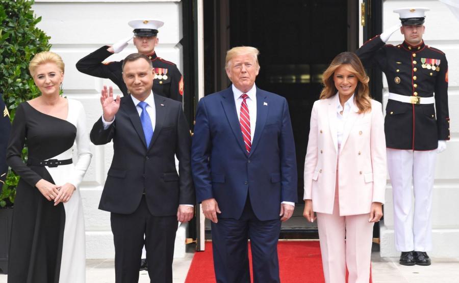 Agata Duda Andrzej Duda Donald Trump i Melania Trump