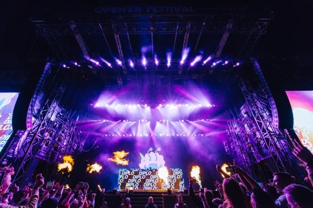 Diplo na festiwalu Open'er 2019. 3 czerwca 2019 roku.