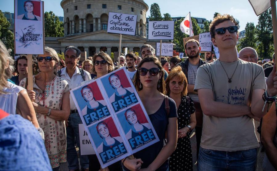 Demonstracja w obronie Caroli Rackete