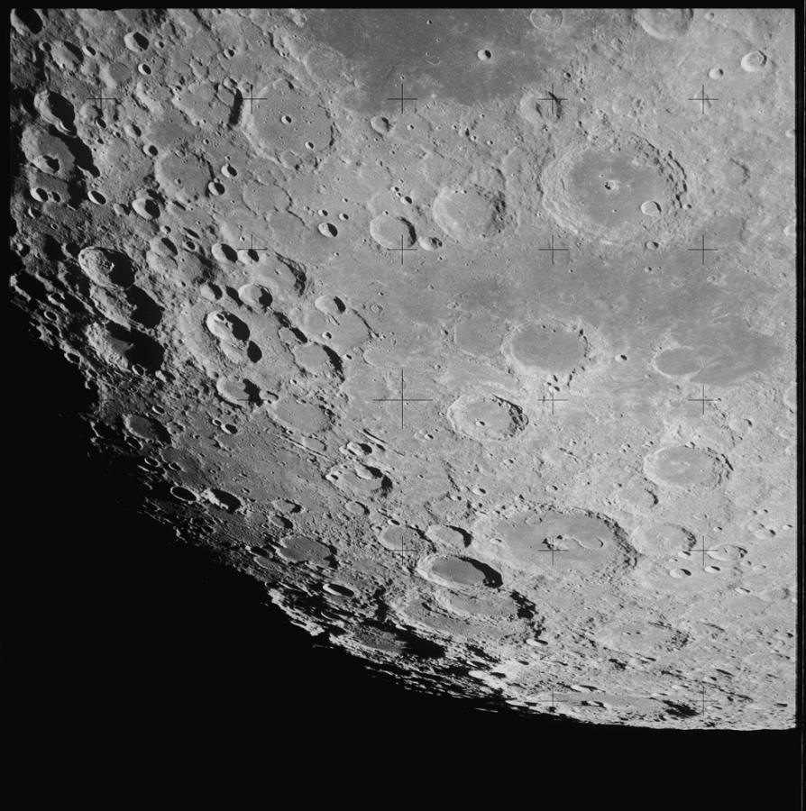 Księżyc widziany z orbity, Apollo 13, 15.04.1970. Fot. NASA