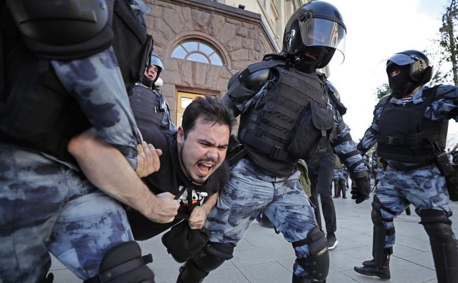 Po demonstracji w Moskwie