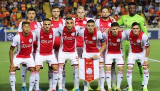 Jedenastka Ajaxu przed meczem w Nikozji