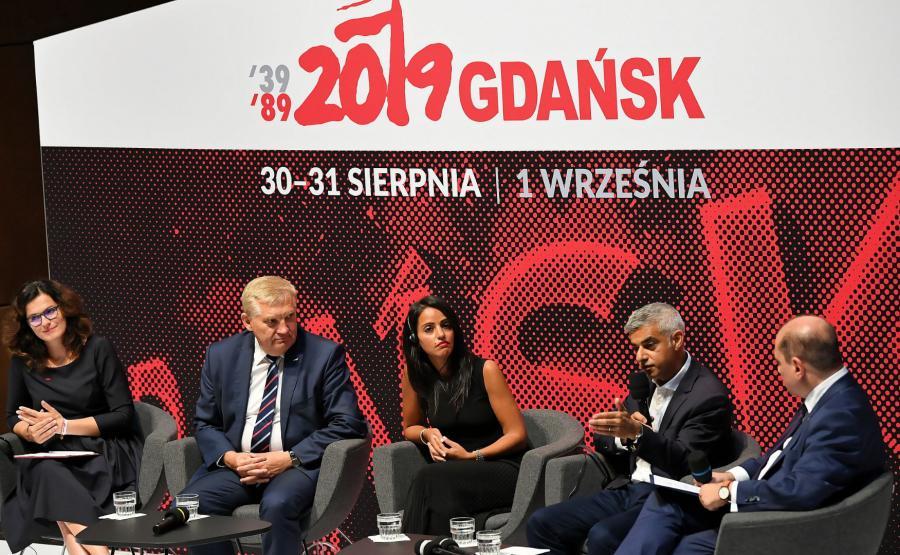 Sadiq Khan, Sawsan Hebli, Aleksandra Dulkiewicz, Tadeusz Truskolaski, Basil Kerski