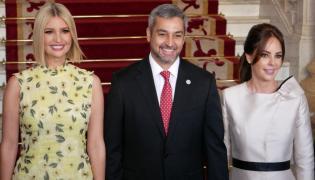 Ivanka Trump i Mario Abdo Benitez oraz Silvana Abdo