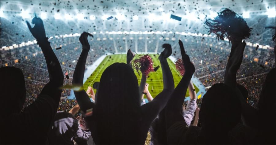 Publiczność na stadionie