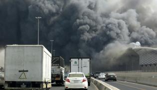 Pożar dworca w Dżuddzie