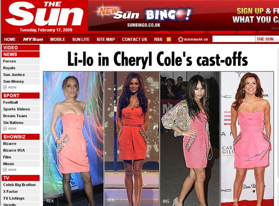 Linsay Lohan w sukience Evy Longori