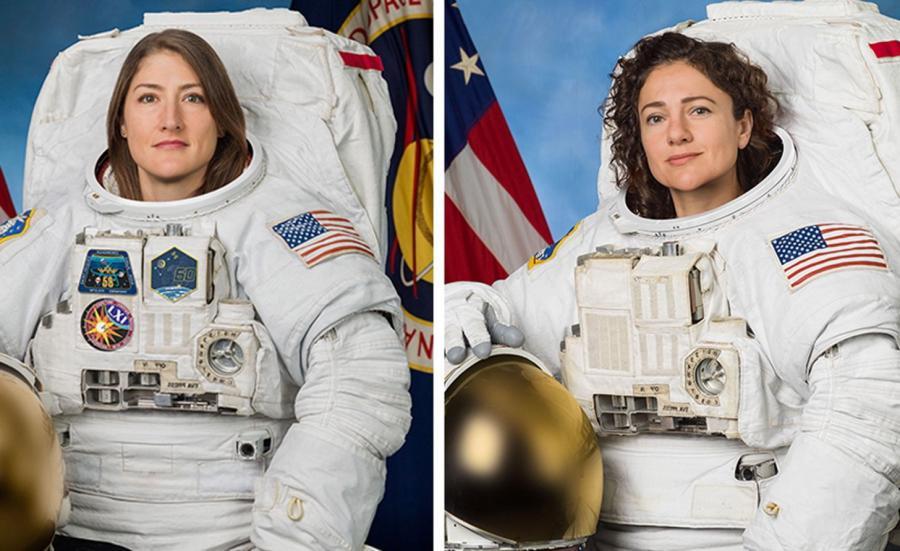 Christina Koch i  Jessica Meir