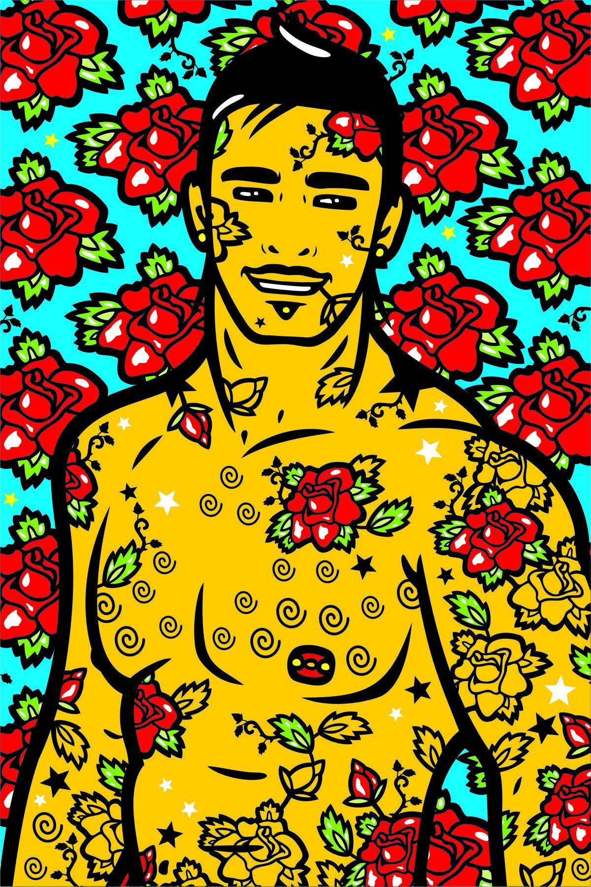 """Yaser Zgurovski """"Rose Vector Illustration"""""""