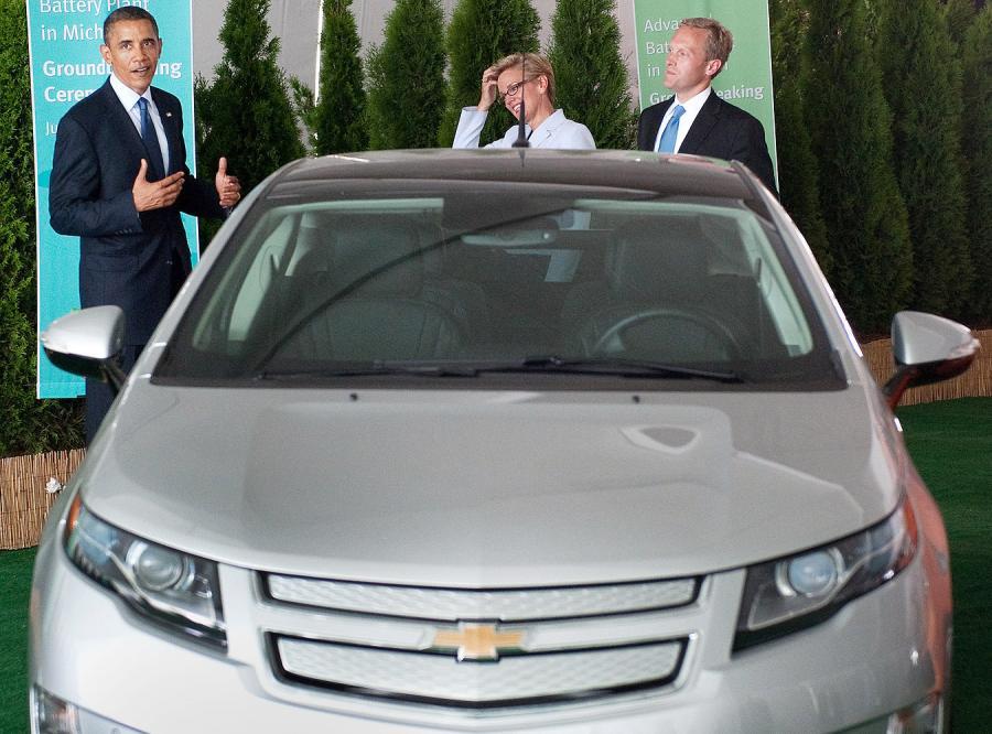 Tak Obama testował auto, któremu prądu nie zabraknie