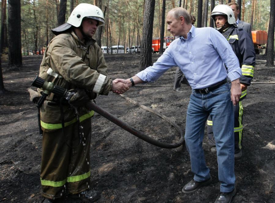 Putin gasił pożary lasów