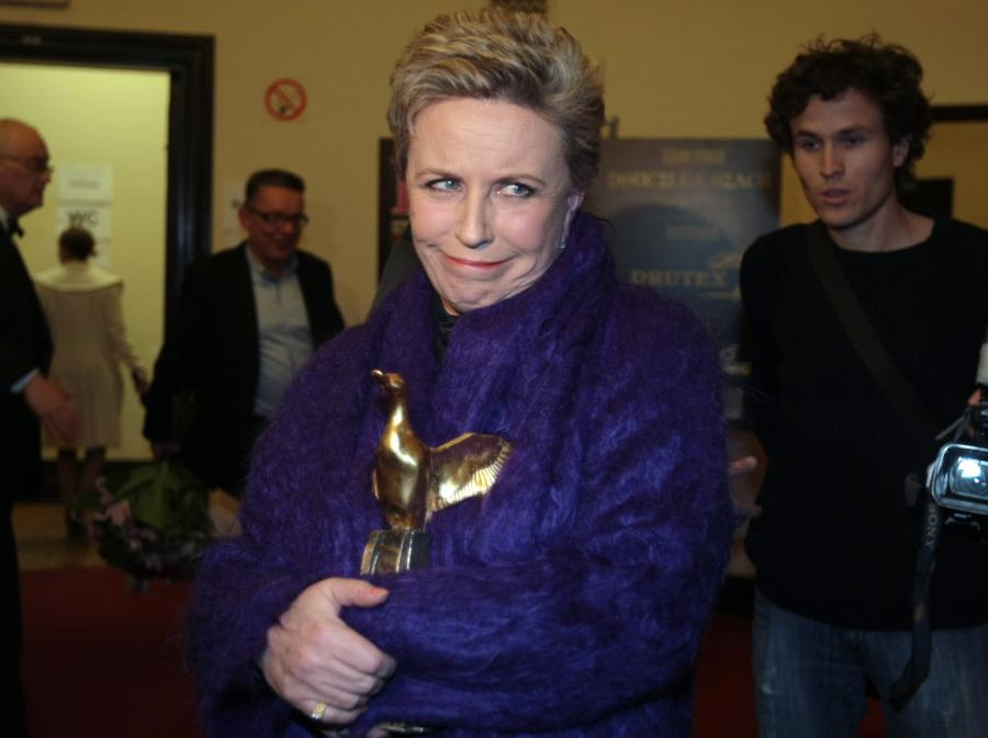 Krystyna Janda ze swoją cenną, bo Złotą Kaczką