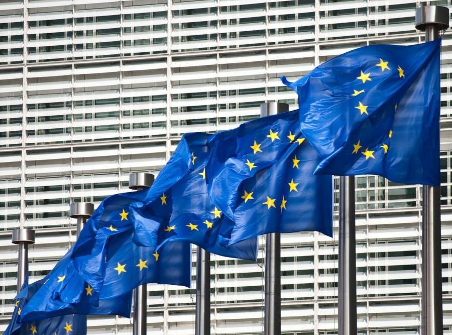 Flagi Unii Europejskiej, zdjęcie ilustracyjne