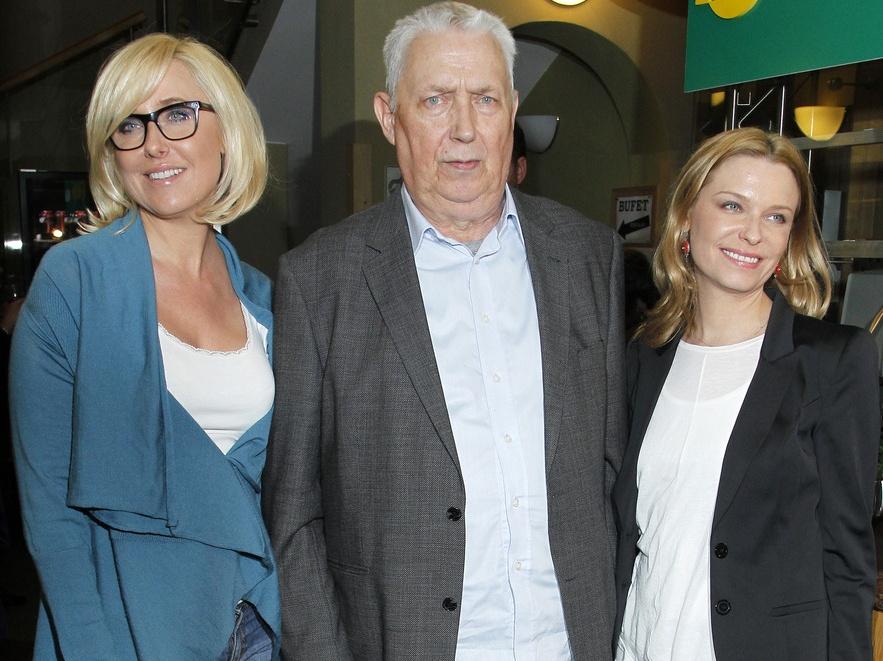 Agata i Paulina Młynarskie z ojcem Wojciechem Młynarskim