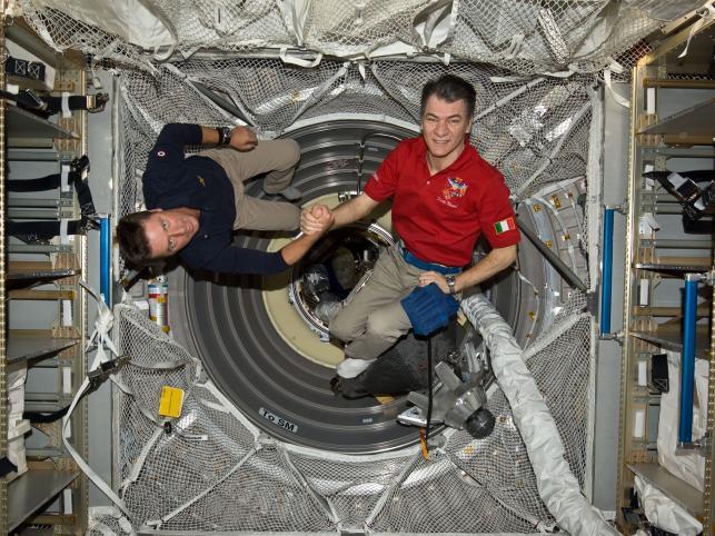Astronauci Paolo Nespoli i Roberto Vittori
