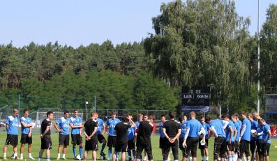Piłkarze Lecha na stadionie we Wronkach