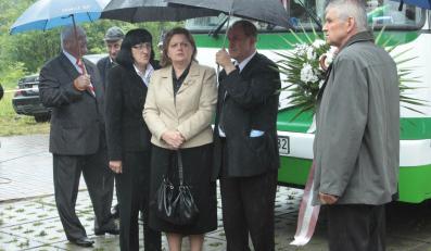 Renata Beger na pogrzebie Andrzeja Lepppera