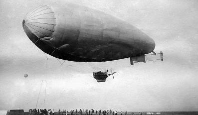 Włoski sterowiec M.1 - Rzym, 7 maja 1918