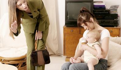 Matka wychodząca do pracy