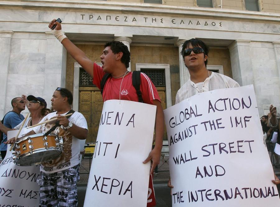 Protest na greckich ulicach