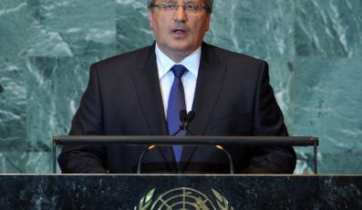 Bronisław Komorowski na sesji Zgromadzenia Ogólnego ONZ