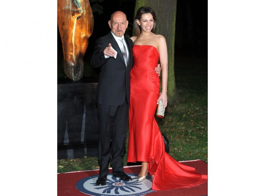 Aktor Sir Ben Kingsley i jego towarzyszka Daniela Lavender