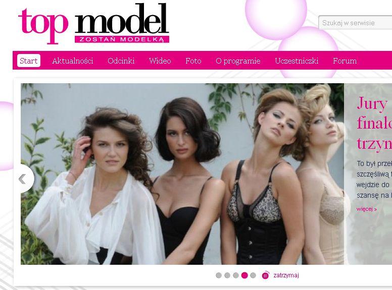 Kandydatki na top modelki na oficjalnej stronie programu topmodel.tvn.pl