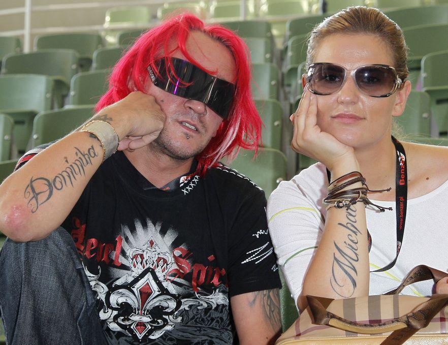 Michał z przyszłą żoną Dominiką