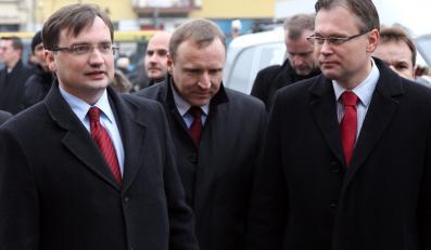 Zbigniew Ziobro, Jacek Kurski i Arkadiusz Mularczyk w Nowym Sączu