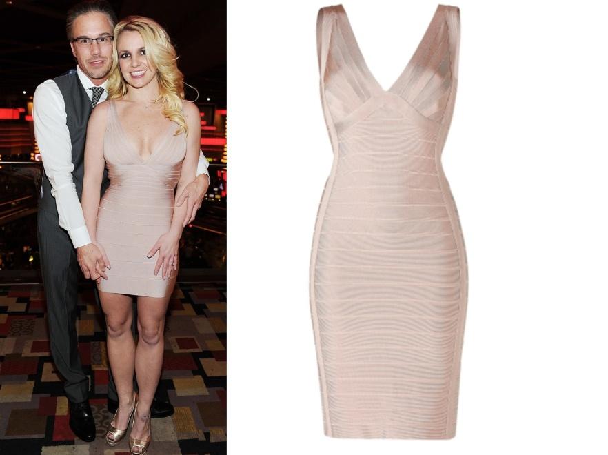 Czy sukienka Herve Leger, w której Britney wystąpiła na swoich 3. zaręczynach, przyniesie jej szczęście?