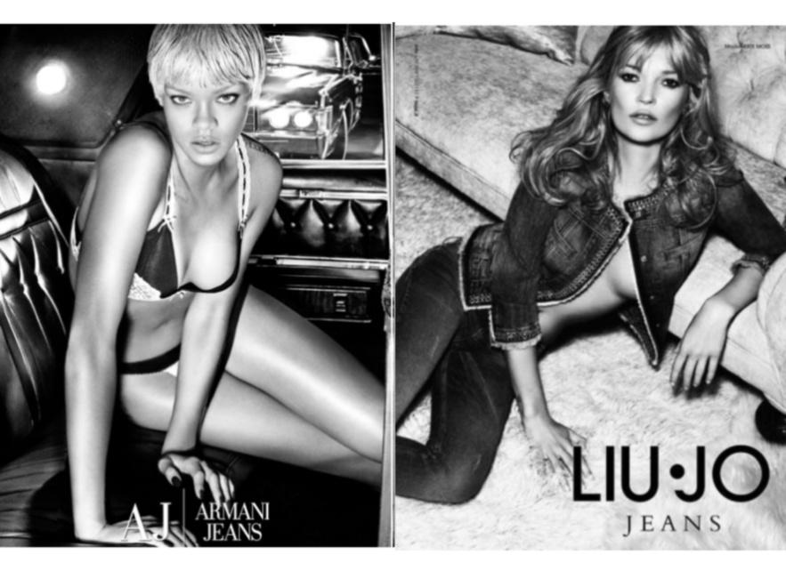 Rihanna i Kate Moss w kuszących reklamach.