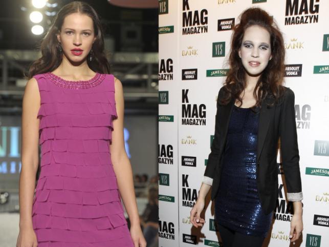 Anna Bałon w dwóch różnych rodzajach makijażu.