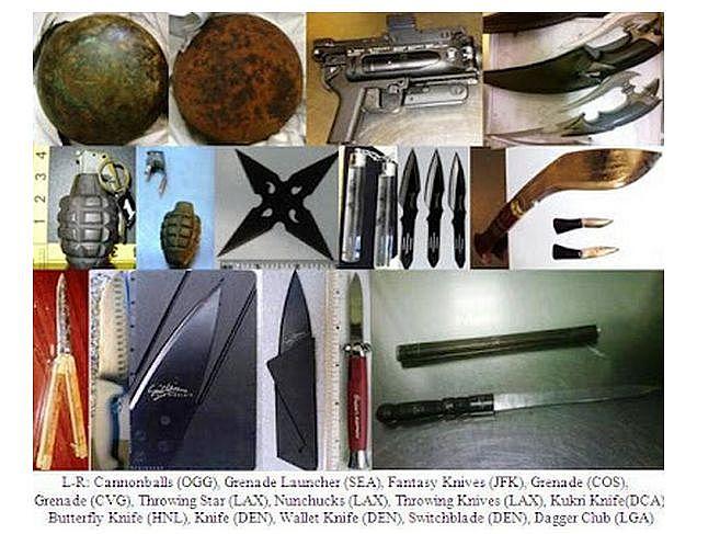 Kule armatnie, granaty, noże...